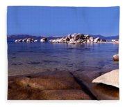 Boulders At The Coast, Lake Tahoe Fleece Blanket