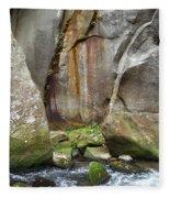 Boulders By The River 2 Fleece Blanket