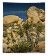 Boulders In The Joshua Tree National Park Fleece Blanket