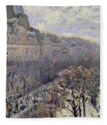 Boulevard Des Italiens Fleece Blanket
