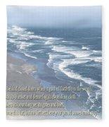 Boundaries Of Beaches Fleece Blanket