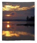 Boundary Waters Sunrise Fleece Blanket