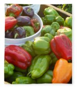 Bountiful Peppers Fleece Blanket