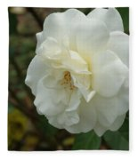 Bountiful White Rose... Fleece Blanket