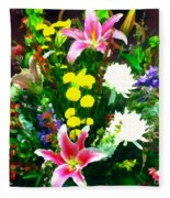 Bouquet Bounty Fleece Blanket