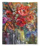 Bouquet De Chez Moi 04 Fleece Blanket