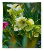 Bouquet Of Lenten Roses Fleece Blanket