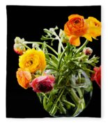 Bouquet Of Ranunculus Fleece Blanket