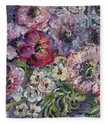 Bouquet Of Sweetness Fleece Blanket