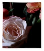 Bouquet With Rose Fleece Blanket