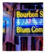 Bourbon Street Blues Fleece Blanket