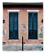 Bourbon Street Doors Fleece Blanket