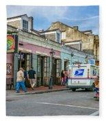 Bourbon Street - Let The Party Begin Fleece Blanket
