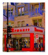 Boutique Erotique Romance Mont Royal The Love You Make Is Equal To The Love You Take City Scene Art Fleece Blanket