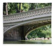 Bow Bridge Texture - Nyc Fleece Blanket