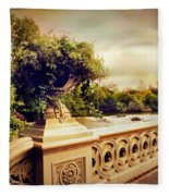 Bow Bridge View Fleece Blanket