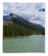 Bow River - Banff Fleece Blanket