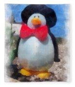 Bow Tie Penguin Photo Art Fleece Blanket