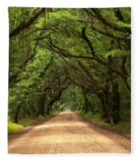 Bowing Oak Trees Fleece Blanket
