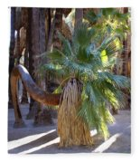 Bowing Palm Fleece Blanket