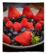 Bowl Of Fruit 1 Fleece Blanket