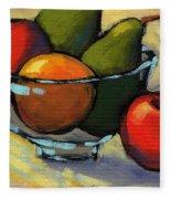 Bowl Of Fruit 5 Fleece Blanket