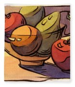 Bowl Of Fruit 8 Fleece Blanket