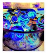 Bowl Of Marbles Fleece Blanket