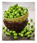 Bowl Of Peas Fleece Blanket
