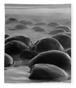 Bowling Ball Beach Bw Fleece Blanket