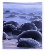 Bowling Ball Beach California Fleece Blanket