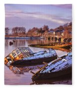 Bowling Harbour 03 Fleece Blanket