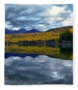 Bowman Lake Quietude Fleece Blanket