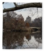 Bows And Arches - New York City Central Park Fleece Blanket