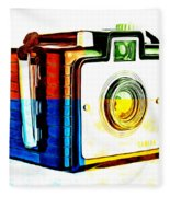Box Camera Pop Art 3 Fleece Blanket