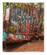 Box Car Graffiti Fleece Blanket