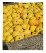 Box Of Golden Apples Fleece Blanket