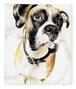 Boxer Dog Poster Fleece Blanket