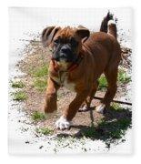 Boxer Puppy 14-1 Fleece Blanket