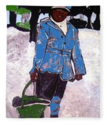 Boy Carrying Coal Circa 1901 Fleece Blanket