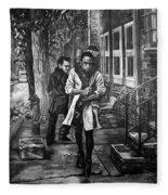 Boy In Heels Fleece Blanket