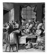 Boycott Of British Tea Fleece Blanket