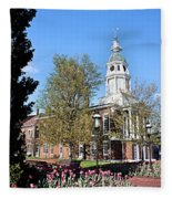 Boyle County Courthouse 3 Fleece Blanket