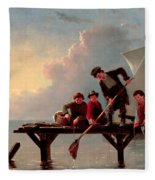 Boys Crabbing Fleece Blanket