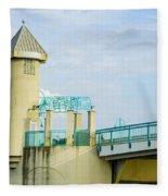 Boyton Beach Bridge Fleece Blanket