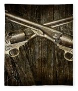 Brace Of Colt Navy Revolvers Fleece Blanket