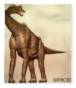 Brachiosaurus Dinosaur Fleece Blanket