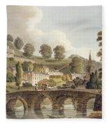 Bradford, From Bath Illustrated Fleece Blanket