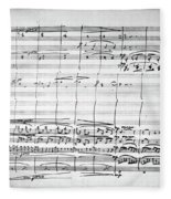 Brahms Manuscript, 1880 Fleece Blanket