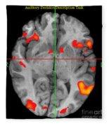Brain Activity During Language Task, 2 Fleece Blanket